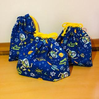 トイストーリー✳︎お弁当袋2つ&コップ袋セット handmade