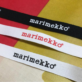 マリメッコ(marimekko)のlove  ST様 専用  マリメッコ ロゴリボン  2枚(各種パーツ)