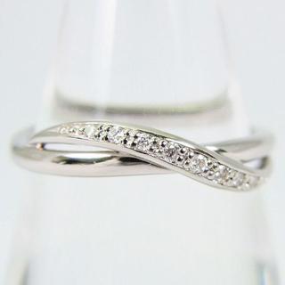 ヨンドシー(4℃)の4℃ K18WG ダイヤモンド リング 10号[f70-10](リング(指輪))