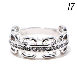 W23 リング 17号 人工石 ホワイトサファイア チェーン(リング(指輪))