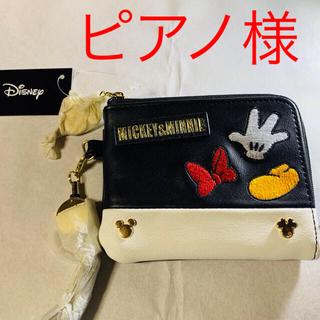 Disney - 新品 ディズニー パスケース 小銭入れ リール付き