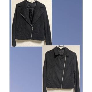 ユニクロ(UNIQLO)のUNIQLO レザージャケット 黒(ライダースジャケット)