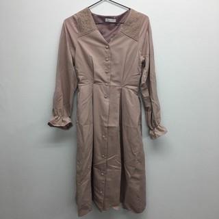リズリサ(LIZ LISA)の裾スカラップV開きワンピース ピンク LIZ LISA(ロングワンピース/マキシワンピース)