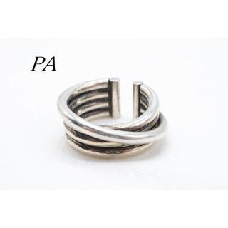 【R976】PA 4連 デザイン リング 指輪 10号(リング(指輪))
