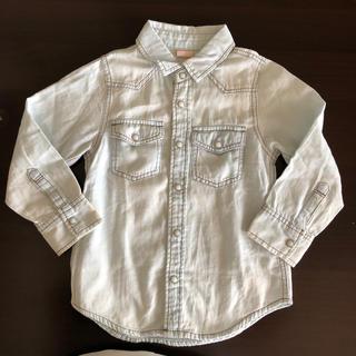 プティマイン(petit main)のpetit main ☆デニムシャツ 100cm(Tシャツ/カットソー)