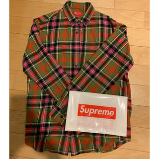Supreme - supreme tartan flannel 17AW