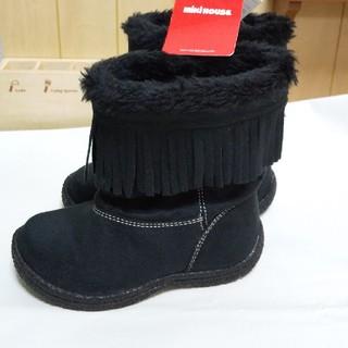 ミキハウス(mikihouse)の新品 【16センチ】8580円MIKI HOUSE ミキハウス ブーツ ブラック(ブーツ)