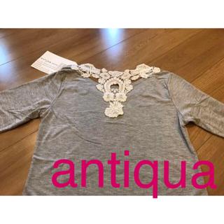 antiqua - カットソー   Tシャツ   アンティカ   Mサイズ   レース   新品