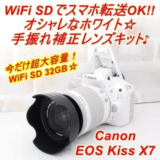 Canon - ★ 極上美品 WiFiでスマホに転送OK!キヤノン EOS Kiss X7 ★