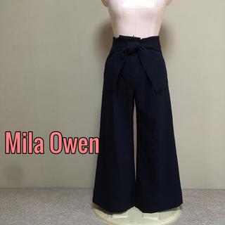 ミラオーウェン(Mila Owen)のMila  Owen♡ハイウエストリボンガウチョパンツ ワイドパンツ(カジュアルパンツ)
