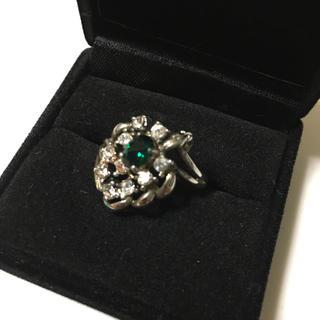 リング トルマリンカラー シルバー ジルコニア ダイヤモンド 人工エメラルド(リング(指輪))