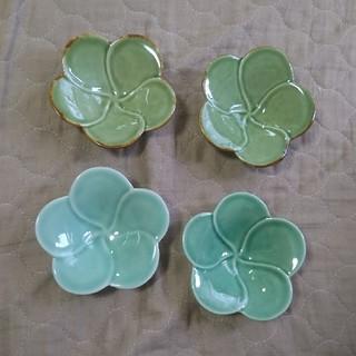 ジェンガラ(Jenggala)のジェンガラ フランジパニ ボウル 小 グリーン 4個 バリ プルメリア 小鉢(食器)