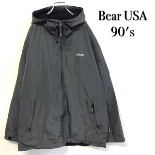ベアー(Bear USA)の美品 90's Bear USA ナイロンジャケット 刺繍ロゴ(ナイロンジャケット)