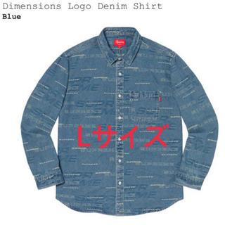 Supreme - Supreme Dimensions Logo Denim Shirts L