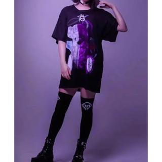 フーガ(FUGA)のTRAVAS TOKYO   天使と悪魔 くま ビッグ Tシャツ ブラック 新品(Tシャツ/カットソー(半袖/袖なし))