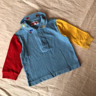 ミキハウス(mikihouse)のミキハウス 長袖 ポロシャツ 80 旧タグ くま(シャツ/カットソー)