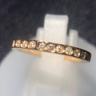 ダイヤモンドリング 指輪 ダイヤリング k18 18金 ハーフエタニティ