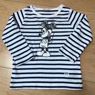 FITH - FITH ミッキー ボーダー ロングTシャツ 90