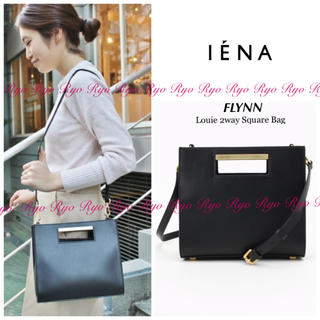 IENA - 美品⭐️44000円/フリン/レザーLOUIE 2wayスクエアバッグ