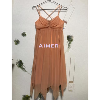エメ(AIMER)の▫️Aimer オレンジビジュドレス(ミディアムドレス)