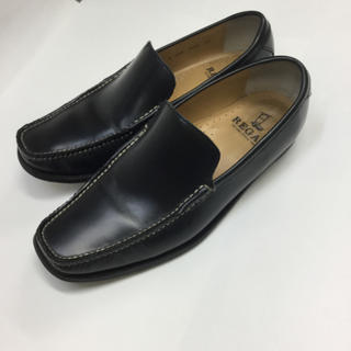 リーガル(REGAL)のREGAL リーガル ローファー メンズ 黒 サイズ 23、5センチ(ドレス/ビジネス)