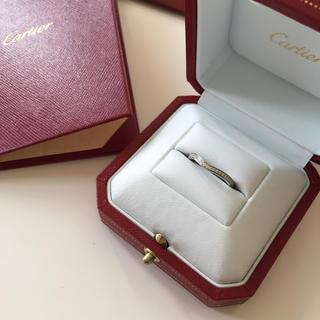 カルティエ(Cartier)の【美品】Cartier カルティエ バレリーナ ハーフエタニティリング(リング(指輪))