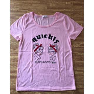 シマムラ(しまむら)のしまむら 新品 ピンク Lサイズ(Tシャツ(半袖/袖なし))