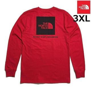 ザノースフェイス(THE NORTH FACE)の売切!ノースフェイス ボックスロゴ 長袖Tシャツ(3XL)赤 180902(Tシャツ/カットソー(七分/長袖))