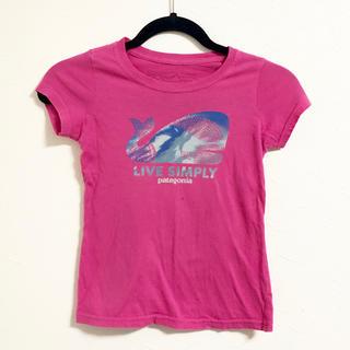 パタゴニア(patagonia)のpatagonia コットンTシャツ◆ガールズXS◆120(Tシャツ/カットソー)