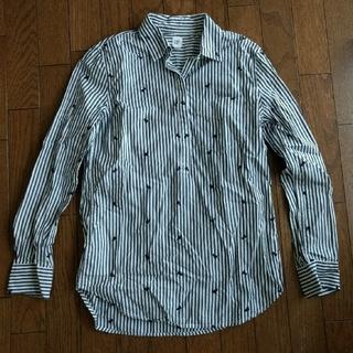ギャップ(GAP)のGAP コットン長袖シャツ 綿100% XXS(シャツ/ブラウス(長袖/七分))