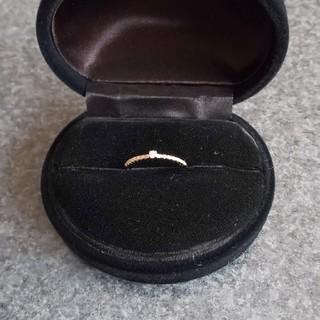 K18 天然ダイヤモンドリング(リング(指輪))