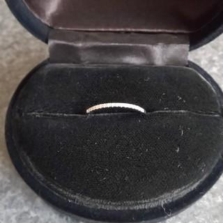 K18WG  天然ダイヤモンドリング(リング(指輪))
