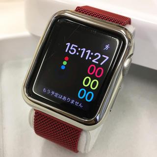 アップルウォッチ(Apple Watch)のApple Watch SPORT 38mm シルバー アップルウォッチ(その他)
