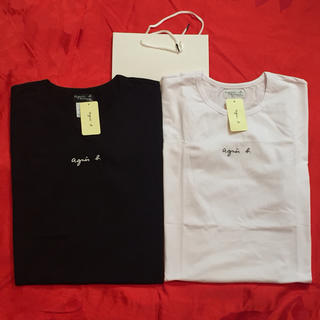 agnes b. - agnesb. チビログM黒白2点セットアニエス・ベー半袖Tシャツ