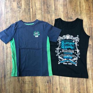 ギャップ(GAP)の120サイズ Tシャツ タンクトップ ネイビー 黒 2枚セット(Tシャツ/カットソー)
