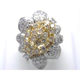 お値引き不可 PT900/K18 合計2.00ct 天然 ダイヤモンド リング(リング(指輪))