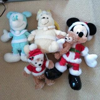 Disney - ミッキー ダッフィー プーさん クリスマスセット ぬいぐるみ リュック