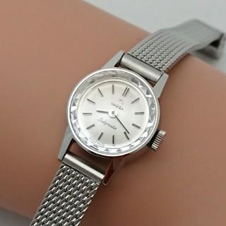 オメガ(OMEGA)のOH済 1966年製 オメガレディマティック 自動巻き カットガラス 極美品(腕時計)
