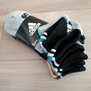 アディダス(adidas)の21~23センチ ボーイズ靴下 5足セット(靴下/タイツ)