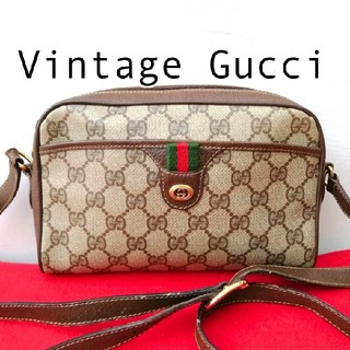 Gucci - 良品 オールドグッチ シェリーライン ビンテージショルダーバッグ ポシェット