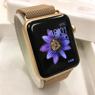 アップルウォッチ(Apple Watch)のApple Watch SPORT 人気色 Gold アップルウォッチ(その他)
