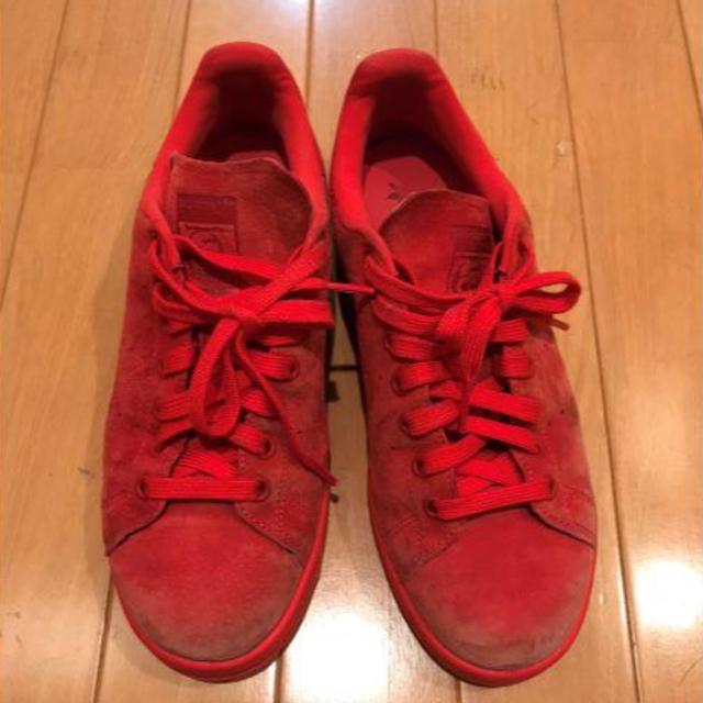 adidas(アディダス)のadidas スタンスミス レッド レディースの靴/シューズ(スニーカー)の商品写真