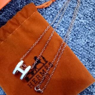 エルメス(Hermes)の超美品 ♡Hermes エルメス ネックレス レディース エレガント 刻印ロゴ(ネックレス)