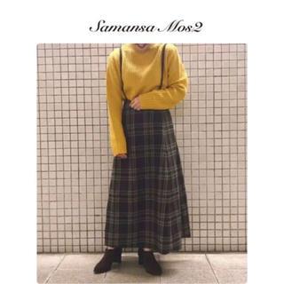 サマンサモスモス(SM2)のサス付き スカート(ロングスカート)