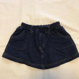 ベルメゾン(ベルメゾン)のスウェットデニムスカート サイズ80(スカート)