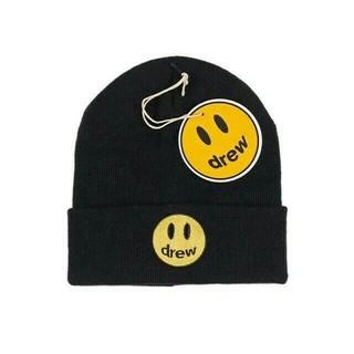 オフホワイト(OFF-WHITE)のDrew House Beanie ブラック メンズ ニット帽(ニット帽/ビーニー)