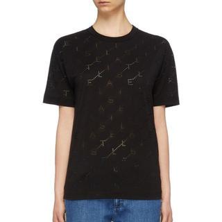 Stella McCartney - ステラマッカートニー モノグラム ジャージー Tシャツ Black