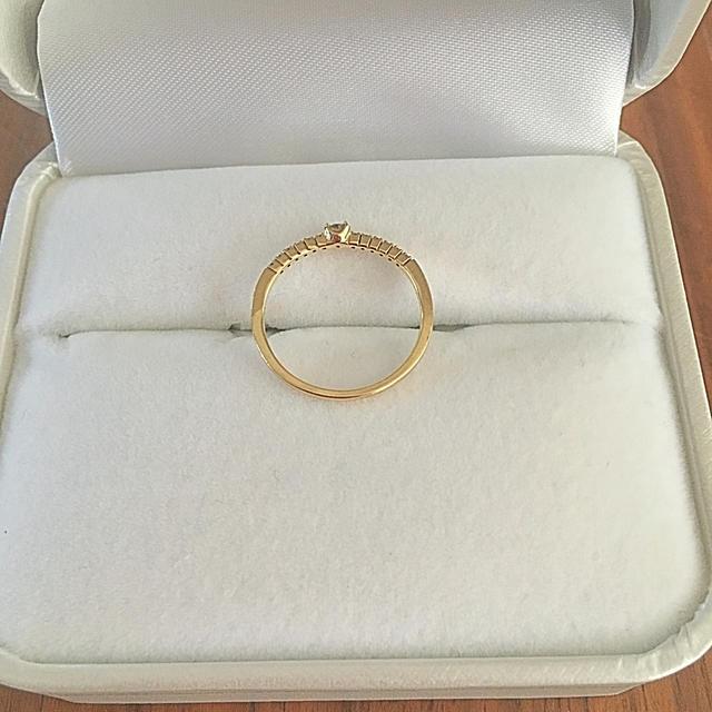 k18 ダイヤ ハーフエタニティリング レディースのアクセサリー(リング(指輪))の商品写真