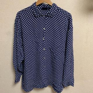 ギャップ(GAP)の90s OLD GAP レーヨン シャツ ドット柄 古着 ビンテージ 珍品(シャツ/ブラウス(長袖/七分))