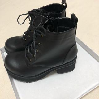 ウィゴー(WEGO)の新品 タグ付き WEGO タンクヒールブーツ(ブーツ)